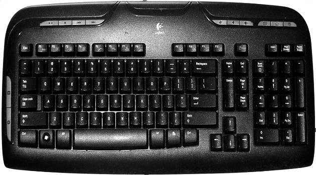 Multimedia Computer Keyboard hindi