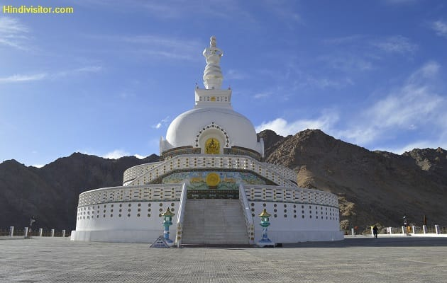 Shanti Stupa Pagoda in hindi