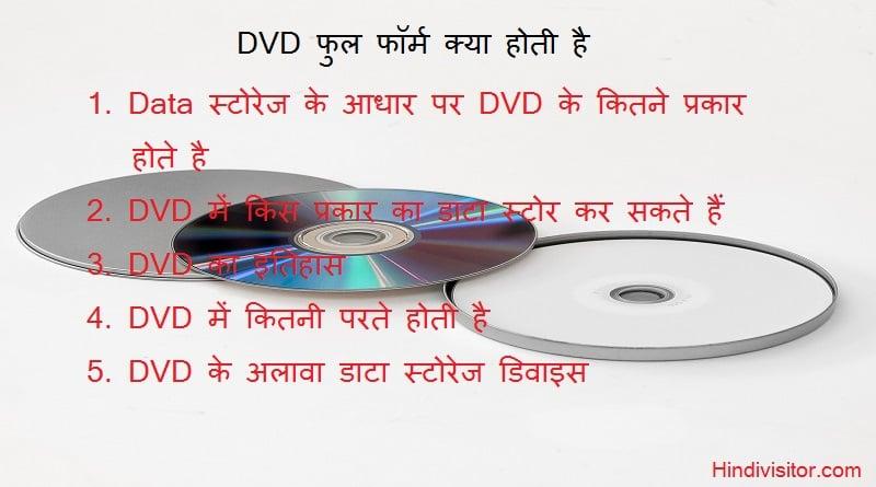 DVD Full Form in hindi