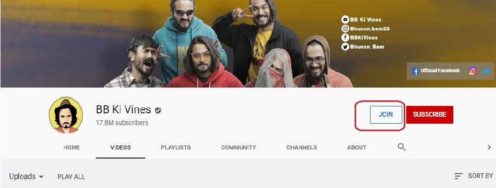 Youtube join program