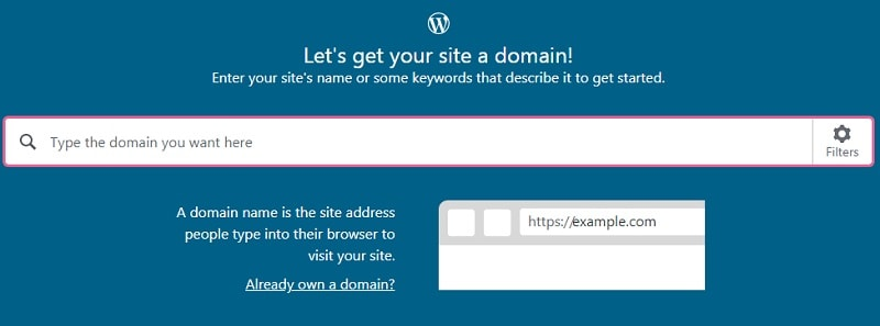 enter wordpress blog address