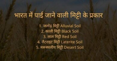 Types of soil in hindi
