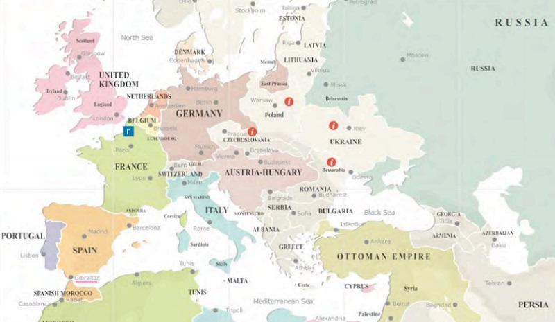 first world war map
